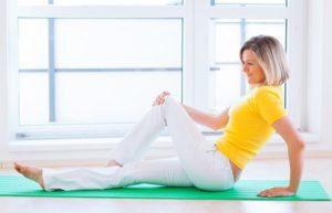 Упражнения сидя на полу