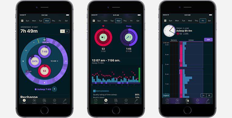 Разработчики создали ряд специальных приложений, работающих в тандеме с умным будильником. Такие утилиты устанавливаются на телефон или планшет и собирают информацию, полученную от трекера.